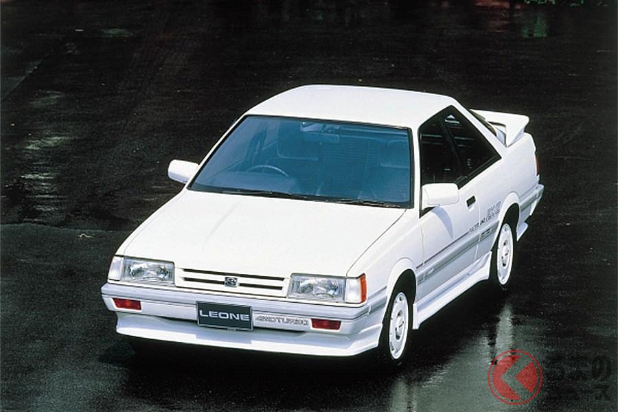 いかにも1980年代というフルエアロが装着された「レオーネRX/II」