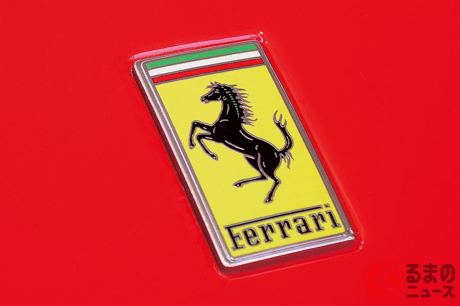 代表的なフェラーリのエンブレム。黄色はモデナの街の色