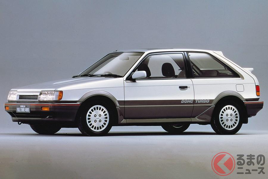 国産車で初となるフルタイム4WDを採用した「ファミリア GT-X」