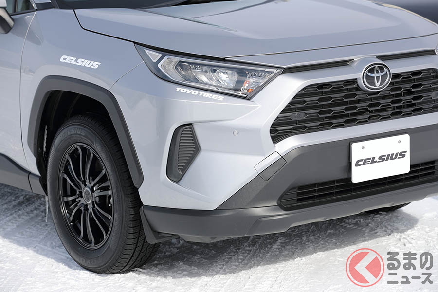 TOYO TIREのオールシーズンタイヤ「セルシアス」。従来のSUV用サイズに加え、新たに乗用車用サイズを加え全19サイズでの展開となる