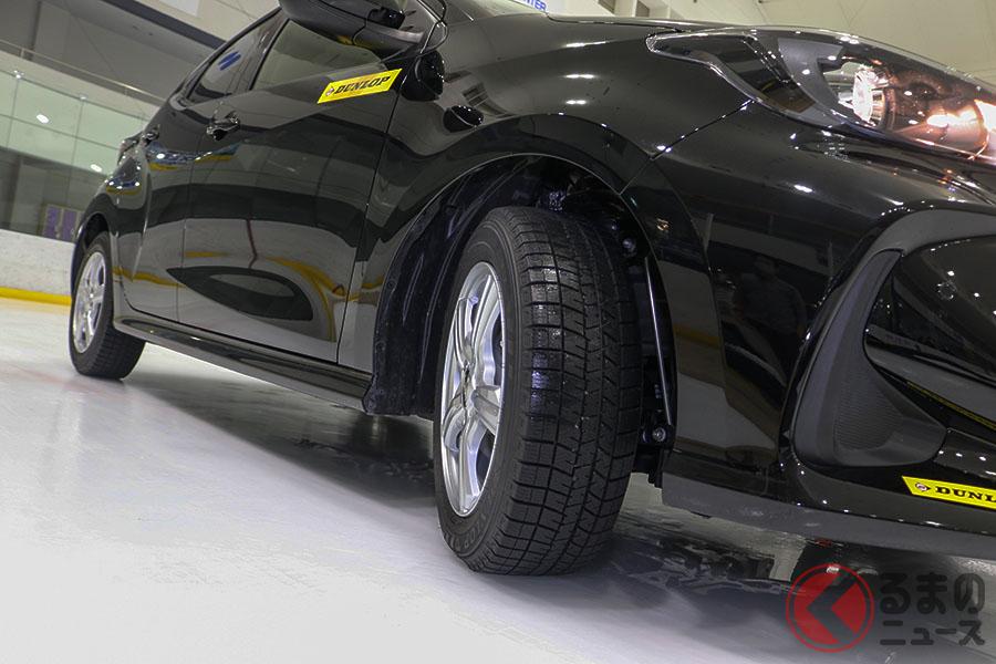 ダンロップの新スタッドレスタイヤウインターマックス03」をスケートリンクでテストした
