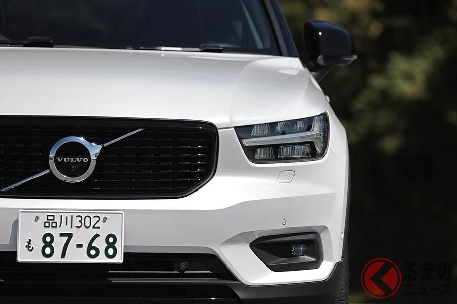 ボルボ「XC40 B5 AWD R-DESIGN」。ボディカラーのクリスタルホワイトパールは11万円のオプション