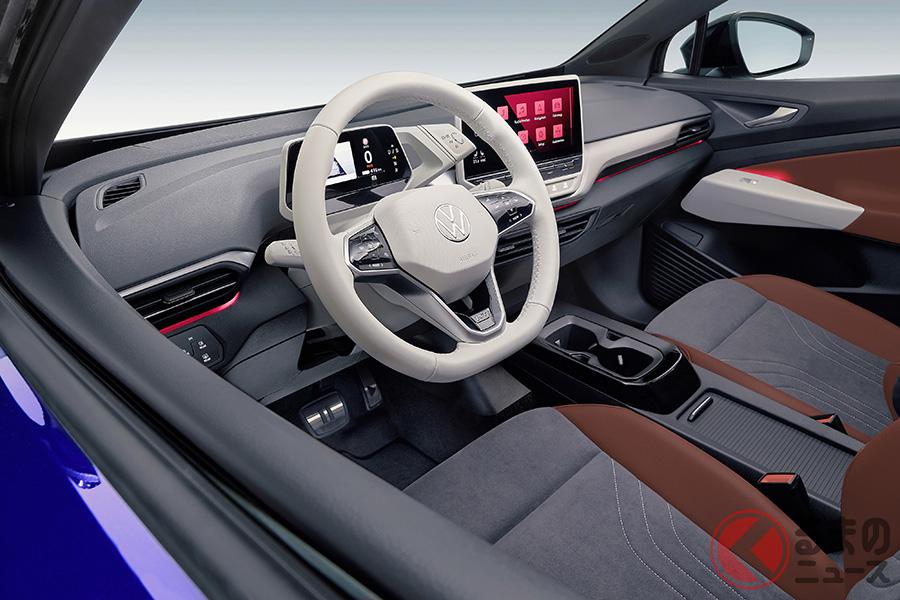 VWの電気自動車(BEV)SUV、「ID.4」のインパネ