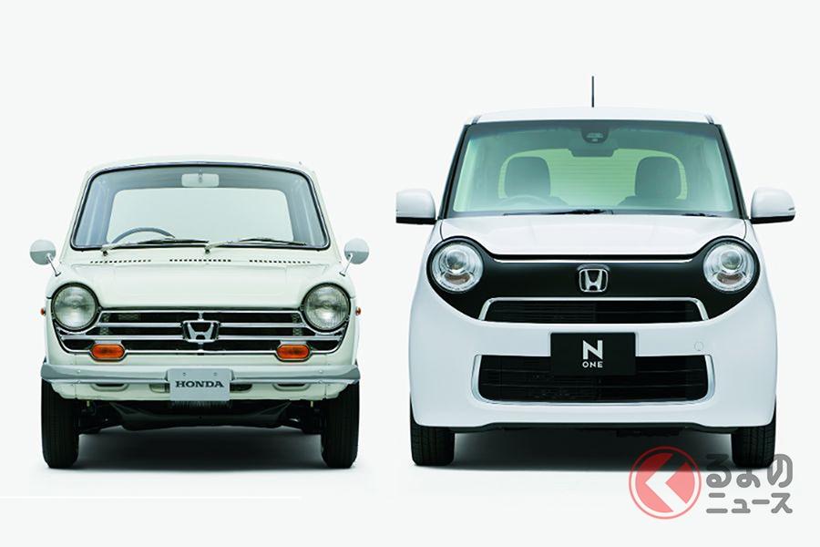 ホンダ「N360」(左)と「N-ONE」(右)