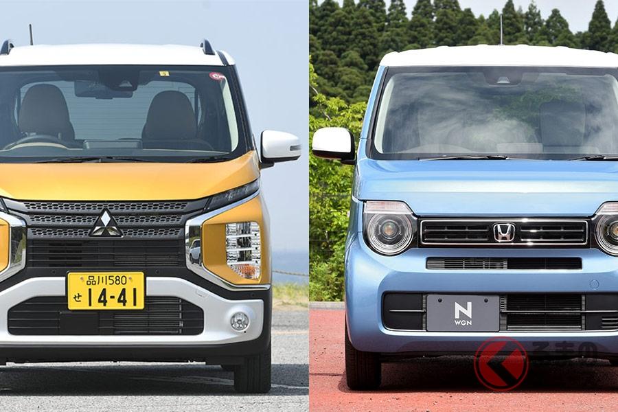 流行りのSUV風モデル「三菱・ekクロス」と丸目が可愛い「ホンダ・N-WGN」