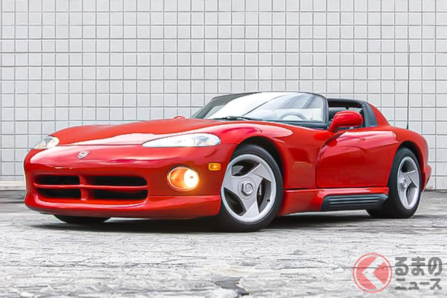 ダッジ「バイパー」は、ランボルギーニがエンジンやサスペンションのチューニングをおこなって誕生した経緯がある(C)Bonhams 2001-2020