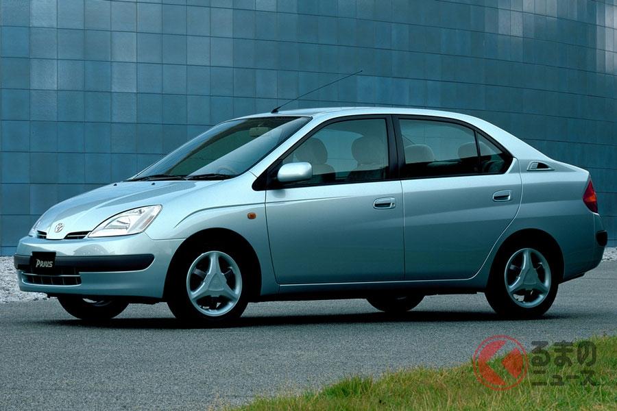 世界初の量産ハイブリッド車として誕生した初代「プリウス」