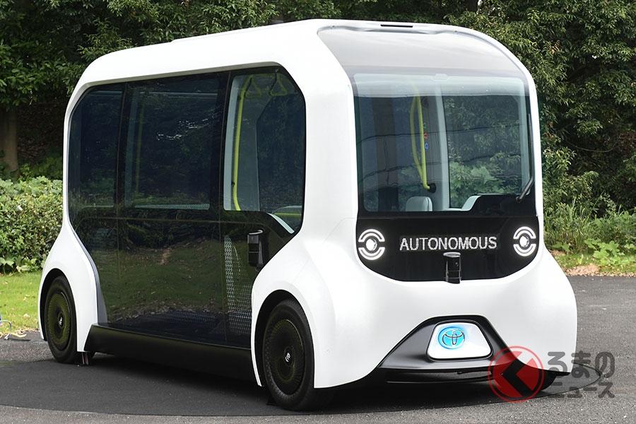 東京オリンピックの選手村で運行されるトヨタの自動運転車「eパレット」