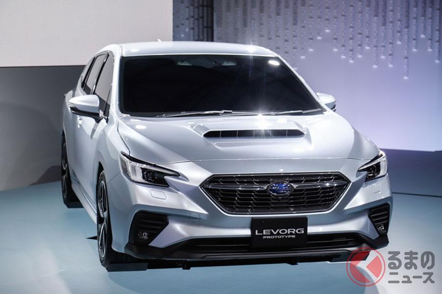 東京モーターショー2019で世界初公開されたスバル新型「レヴォーグ」(プロトタイプ)