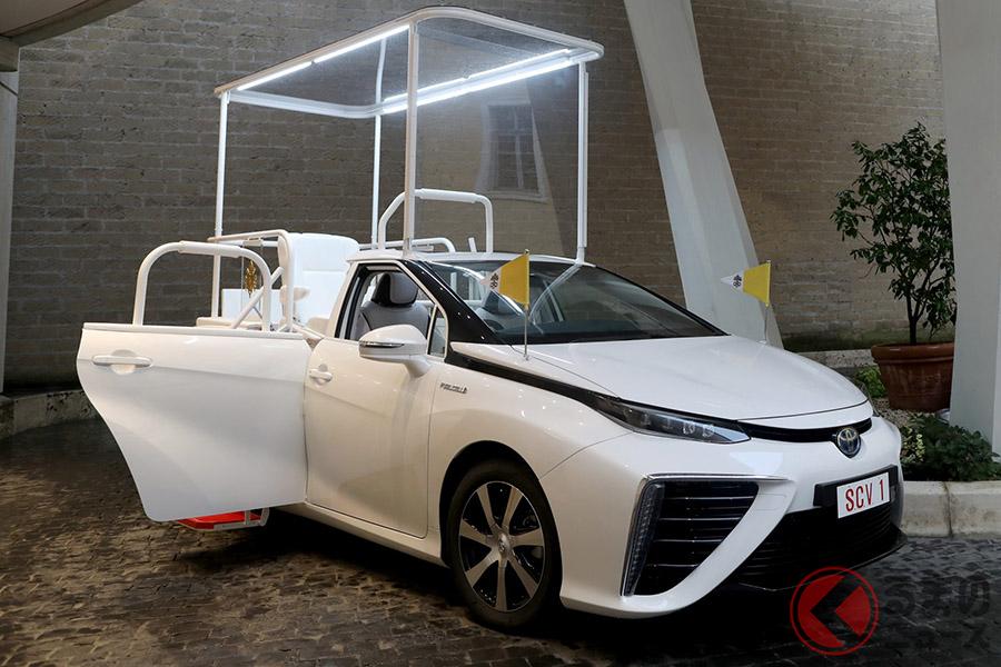 フランシスコ法王に寄贈されたトヨタ「ミライ」をベースとした水素パパモビル