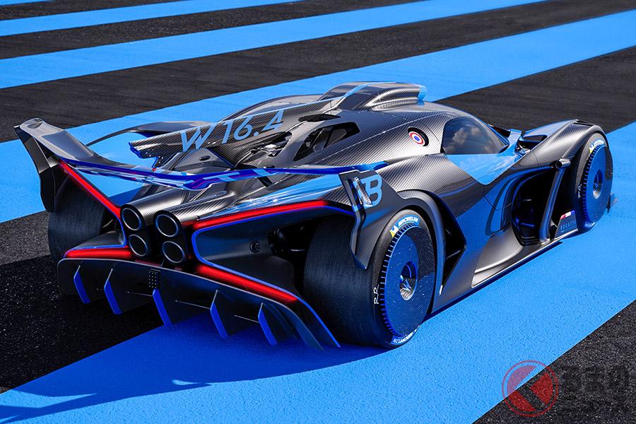最高出力1850ps、最大トルク1850Nm、最高速度500km/h以上というブガッティ「ボライド」