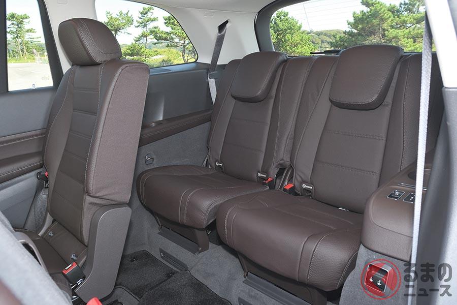 メルセデス・ベンツ「GLS 400d 4マティック」のサードシート。身長194cmの人でも座ることが可能