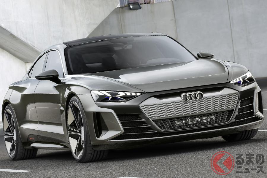 2018年に登場したアウディ「e-tron GTコンセプト」。市販車もほぼこのデザインで登場するという