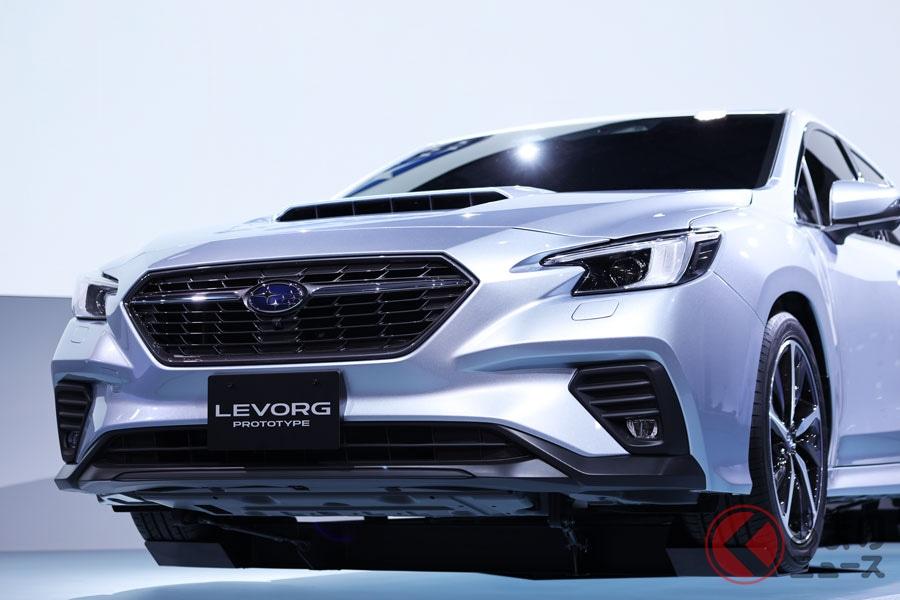 2019年10月に世界初公開されたスバル新型「レヴォーグ」(プロトタイプ)