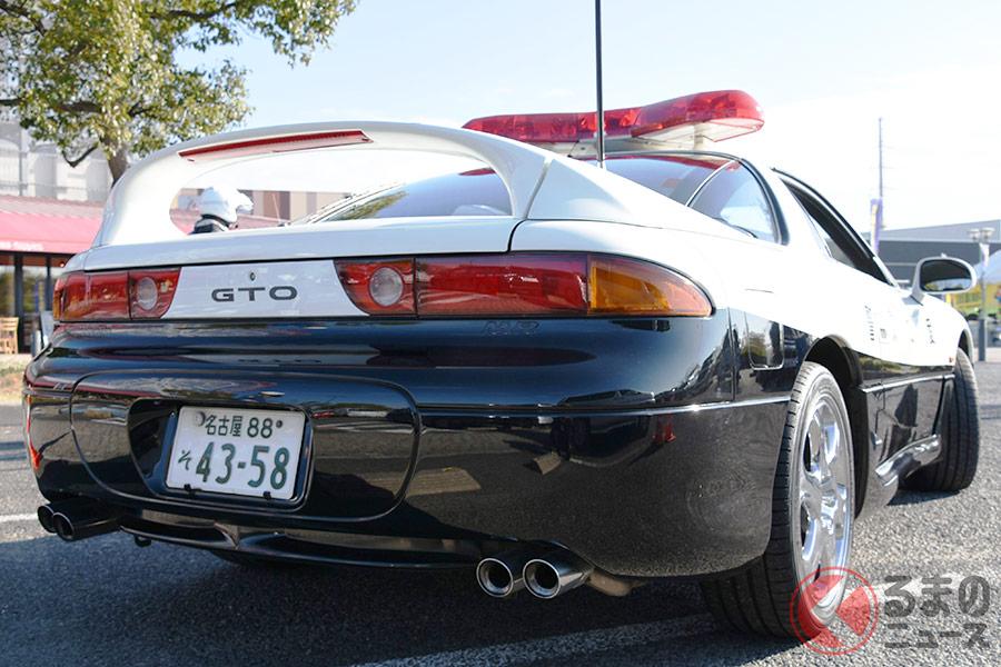 SNSで話題に!? 高速隊から広報課に「異動」した「GTOパトカー」(画像:愛知県警)