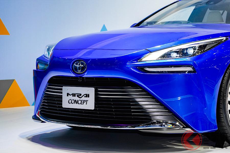 トヨタは北京モーターショー2020で、燃料電池車の「ミライ・コンセプト」などを展示して、電動化モデルをアピールしている