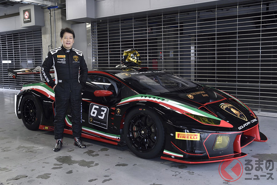 中谷明彦氏が「ウラカンGT3」を富士スピードウェイをアタックする