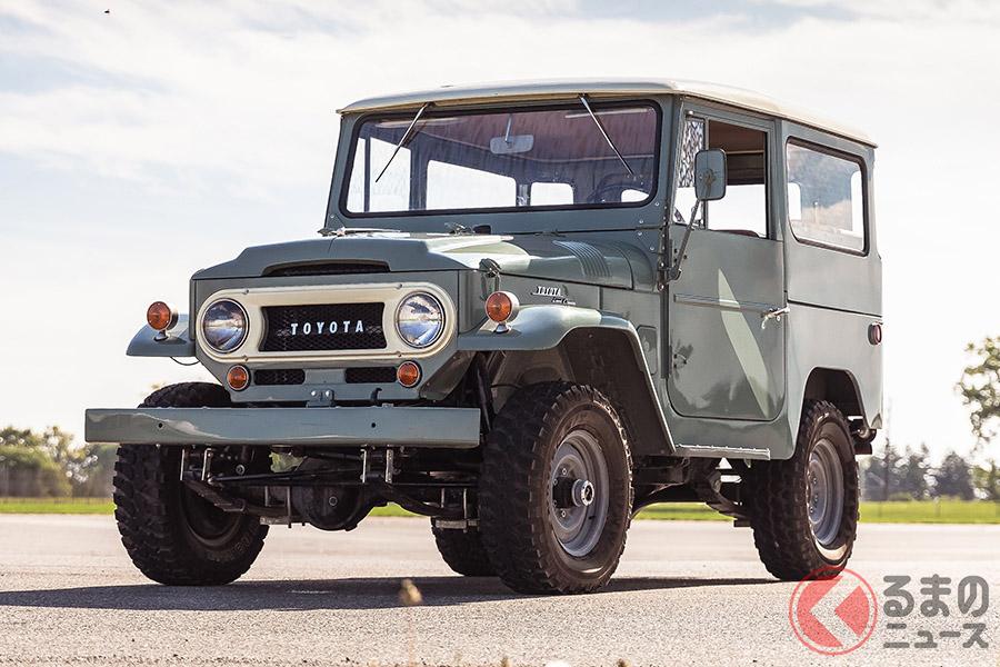 約530万円−約740万円のエスティメートであったが、流札となった1967年式トヨタ「FJ40ランドクルーザー」(C)2020 Courtesy of RM Sotheby's