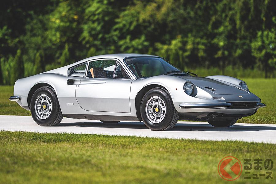 漫画では沖田が公道グランプリレースで運転した「ディーノ246 GT」は、約3300万円で落札(C)2020 Courtesy of RM Sotheby's