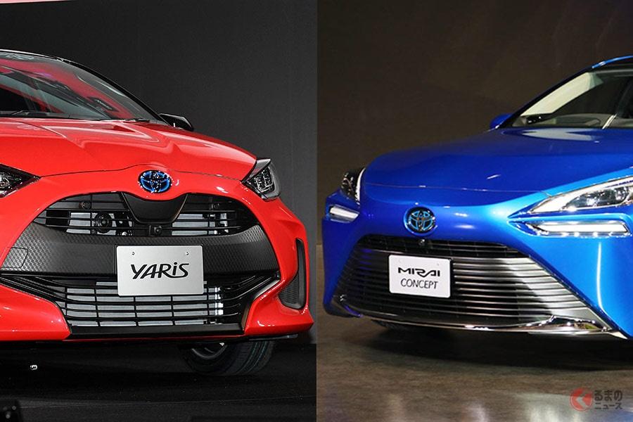 東京モーターショー前に発表された新型「ヤリス」と新型「ミライ」