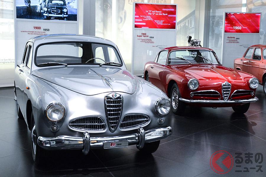 1950年の「1900」(左)と1954年の「1900 スーパースプリント」(右)