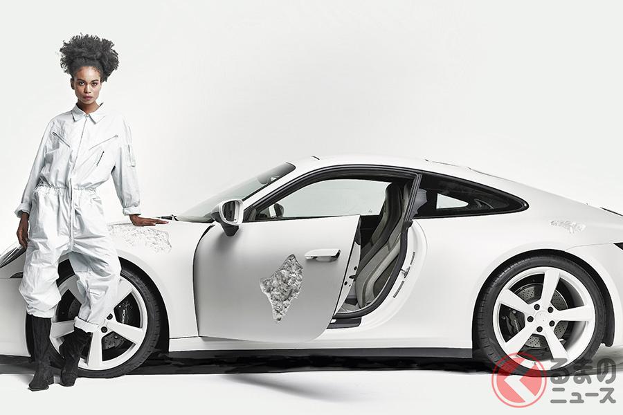 ポルシェと現代アーティストとのコラボレーション作品「Crystal Eroded Porsche 911」