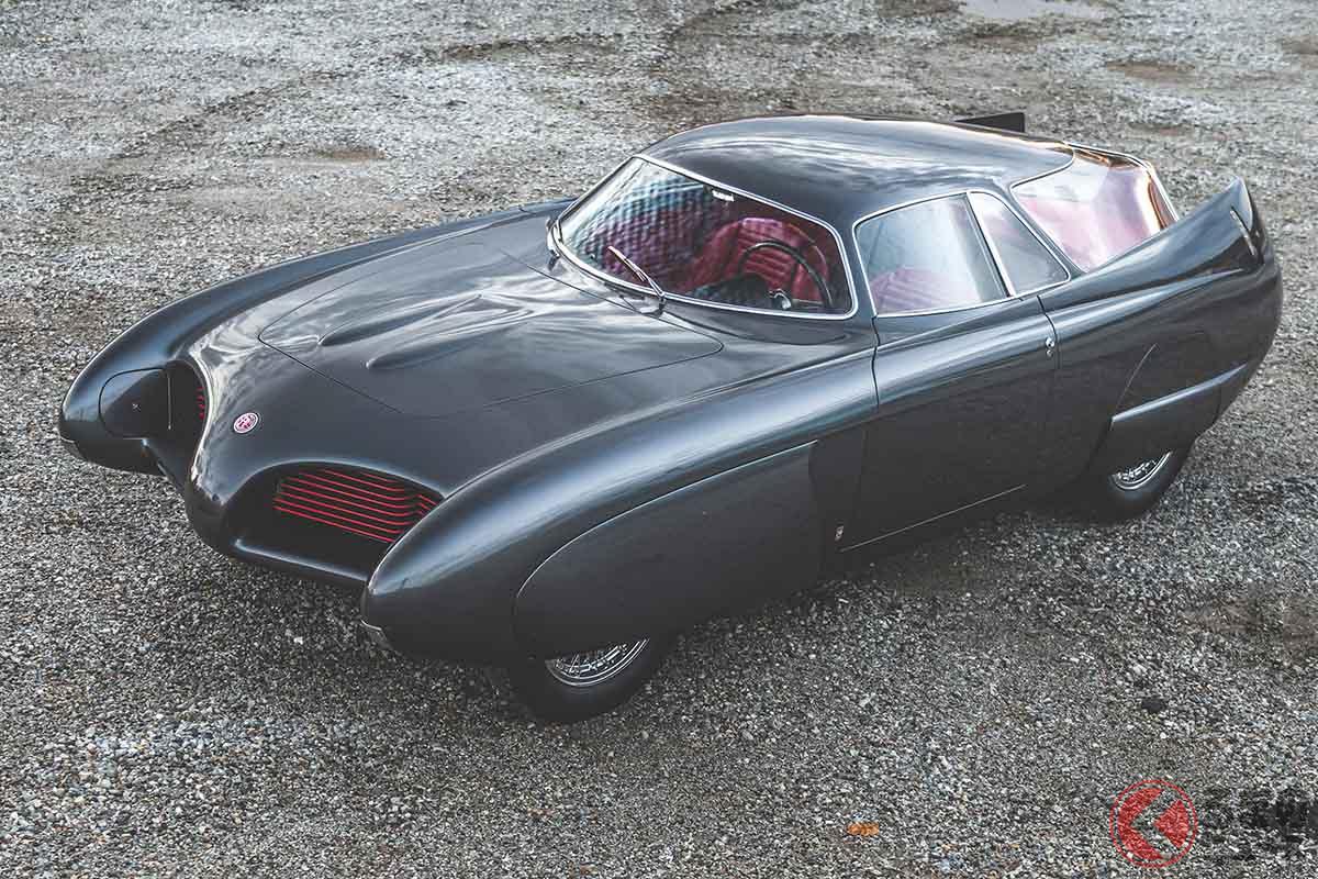 1953年5月のトリノ・ショーにて衝撃のデビューを果たしたアルファ ロメオ「B.A.T.5」(C)2020 Courtesy of RM Sotheby's