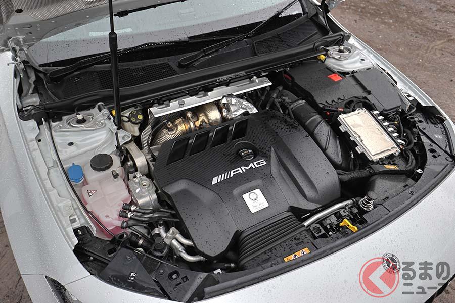 「M139型」2リッター直列4気筒直噴ターボエンジンは421ps・500Nmを発生。AMGのマイスターが最初から完成まで丁寧に組み上げる