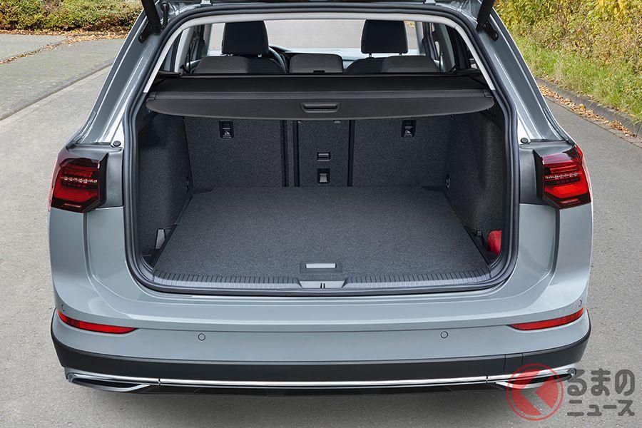 VW新型「ゴルフオールトラック」の荷室
