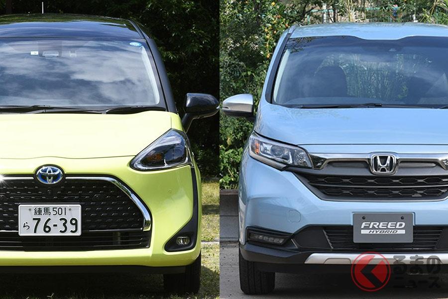 逃げるシエンタと追うフリード! 両車の販売台数はどう変化する?