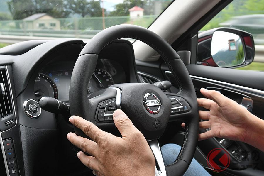 日産「スカイライン」の先進運転支援技術「プロパイロット2.0」限られた条件下において手放し運転が可能