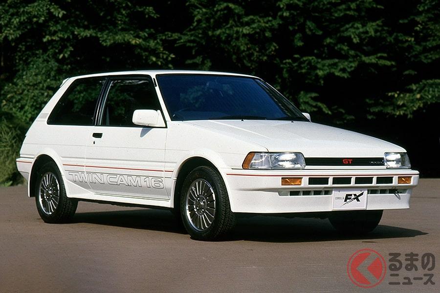 「カローラシリーズ」の派生車「カローラFX」には「4A-G型」を横置きに搭載