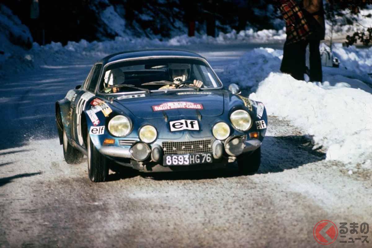 1973年WRC第1戦、ラリー・モンテカルロでのアルピーヌ「A110」