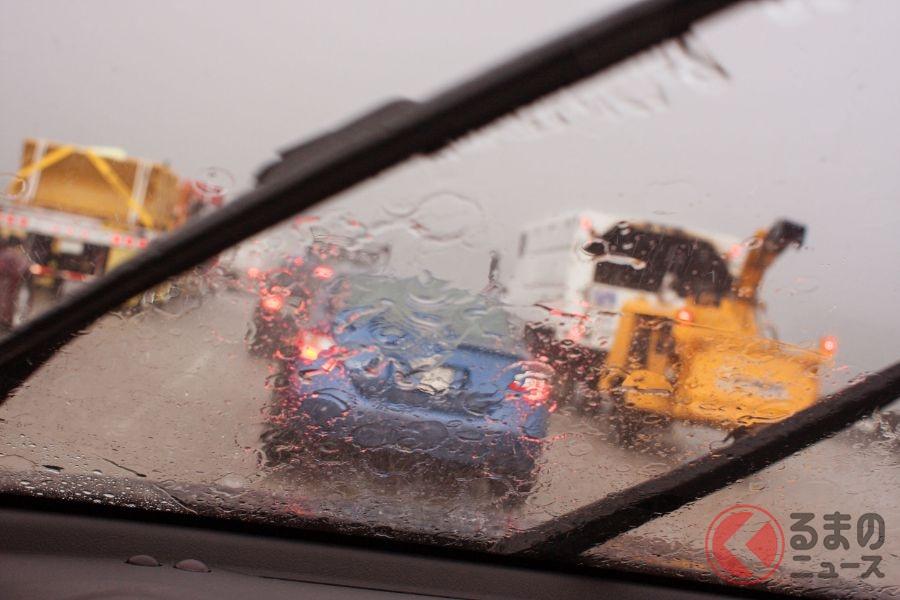 豪雨による視界悪化に注意