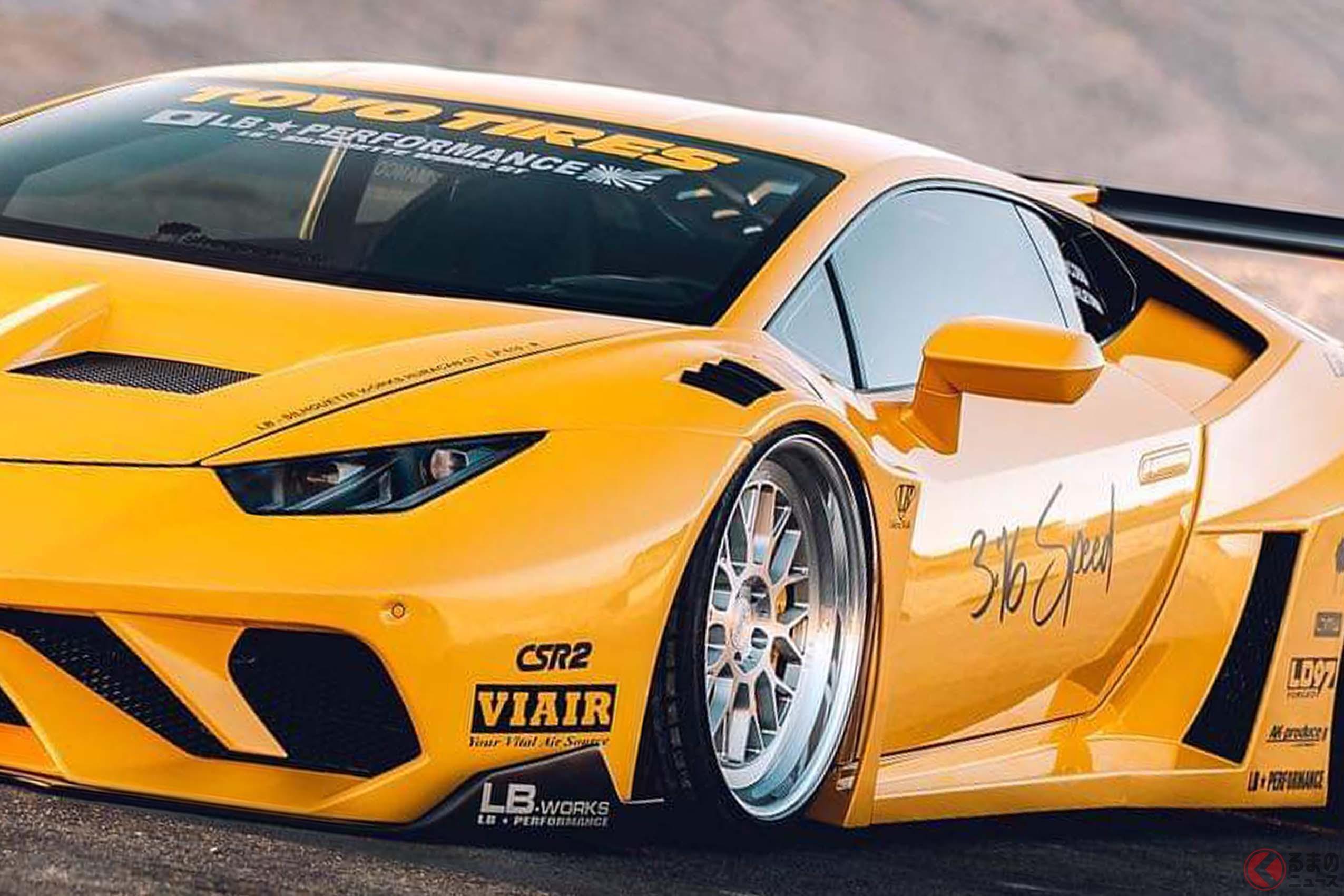 日本発祥の「族」スタイルを見事にスーパーカーに融合させたリバティウォーク。LBシルエット・ワークスGTのボディキットもウラカンにマッチしている