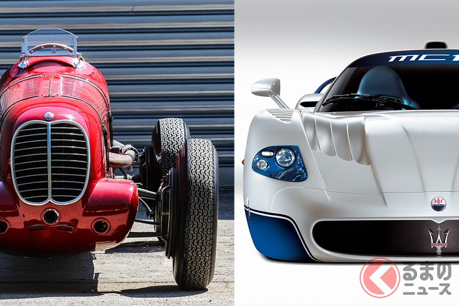 1939年のタルガ・フローリオで勝利した「ティーポ6CM」と、2005年から2010年にかけて、GT選手権の最上位レースカテゴリであるFIA GT1国際チャンピオンシップを6度獲得した「MC12」