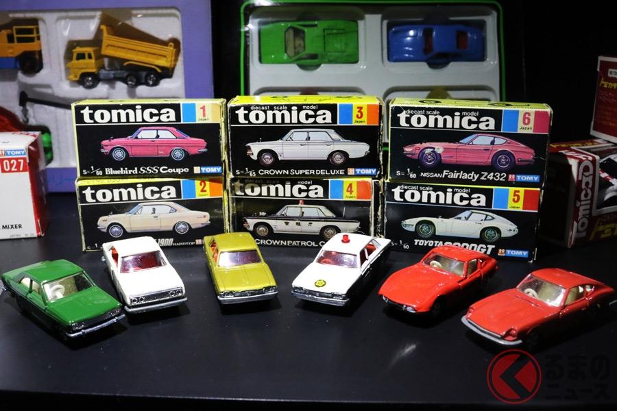 1970年に発売された初代トミカ6車種
