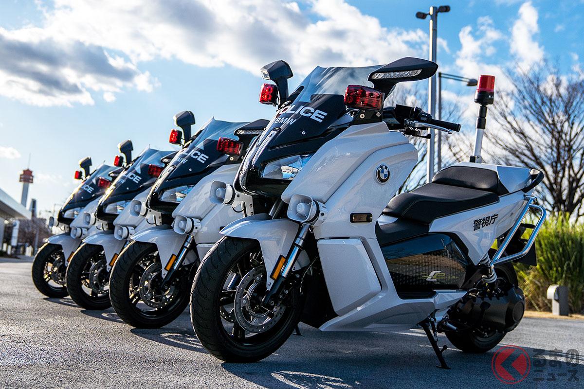 箱根駅伝の先導白バイで話題! 2020年2月に警視庁に納入されたBMW Motorrad製の電動スクーター「C evolution(シー・エヴォリューション)」