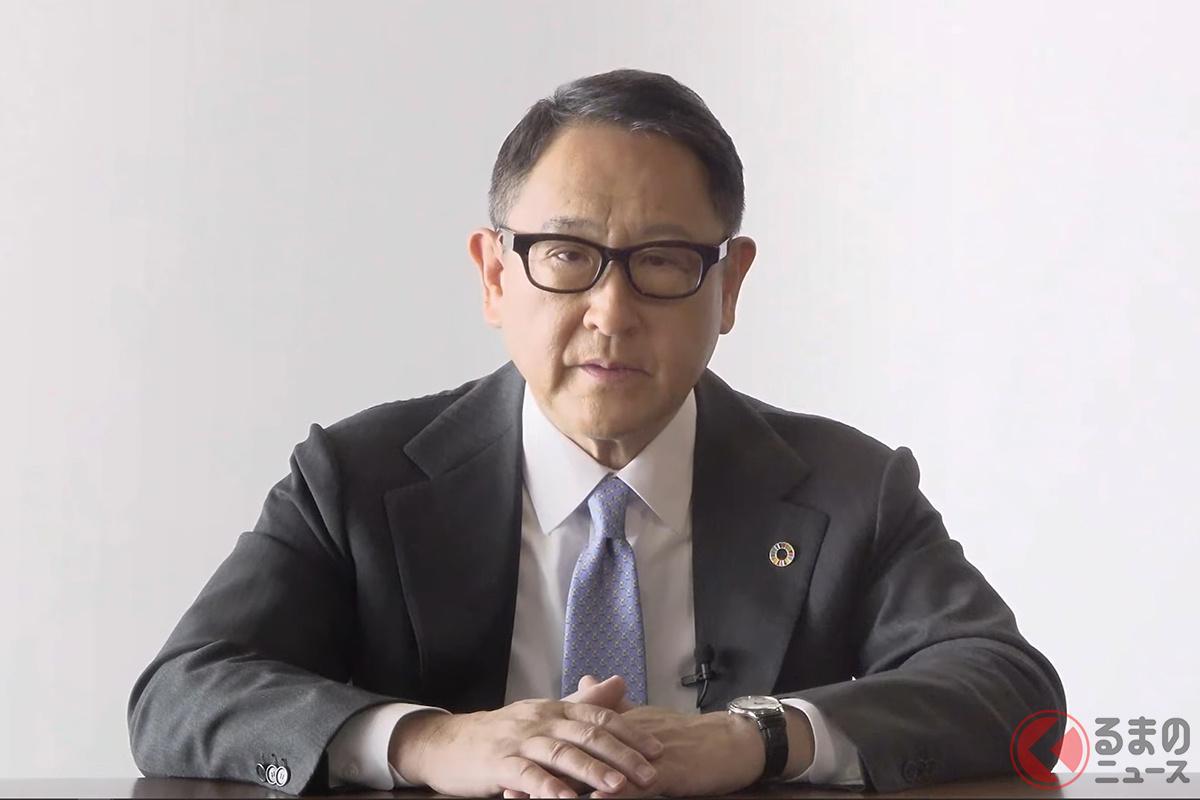 日本自動車工業会の豊田章男会長(画像:日本自動車工業会公式YouTubeより)