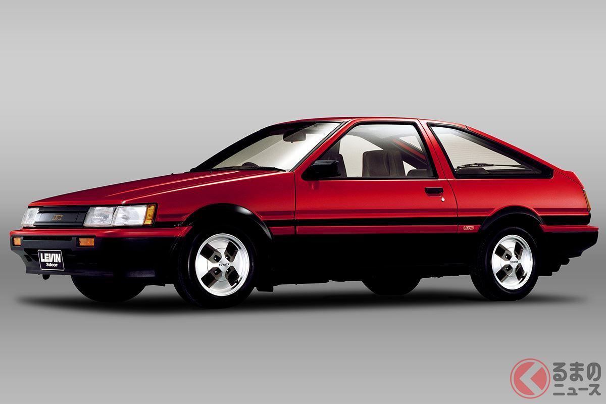 全面刷新された新世代の「4A-G型」エンジンを搭載した「AE86型 カローラレビン」