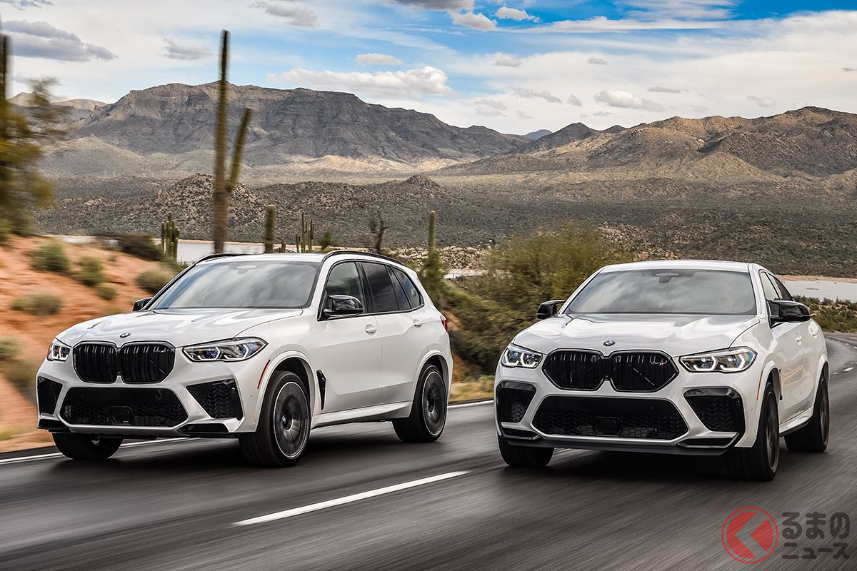 BMW「X5 M」(左)と「X6 M」(右)
