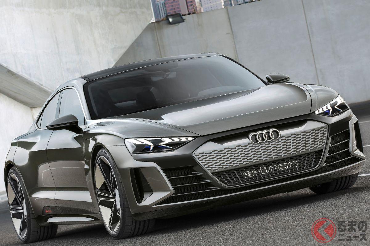 まもなく世界初公開される予定の「e-tron GT」。日本でも早ければ2021年中にお披露目されそうだ。写真はコンセプトモデル