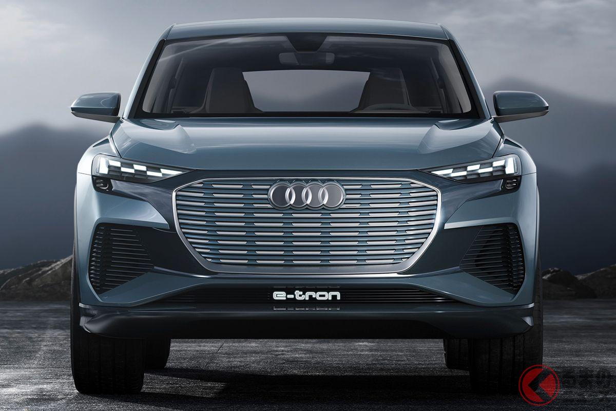 電気自動車のミドルサイズSUV、「Q4 e-tron」も2021年末、もしくは2022年前半に日本で登場する予定だ。写真はコンセプトモデル
