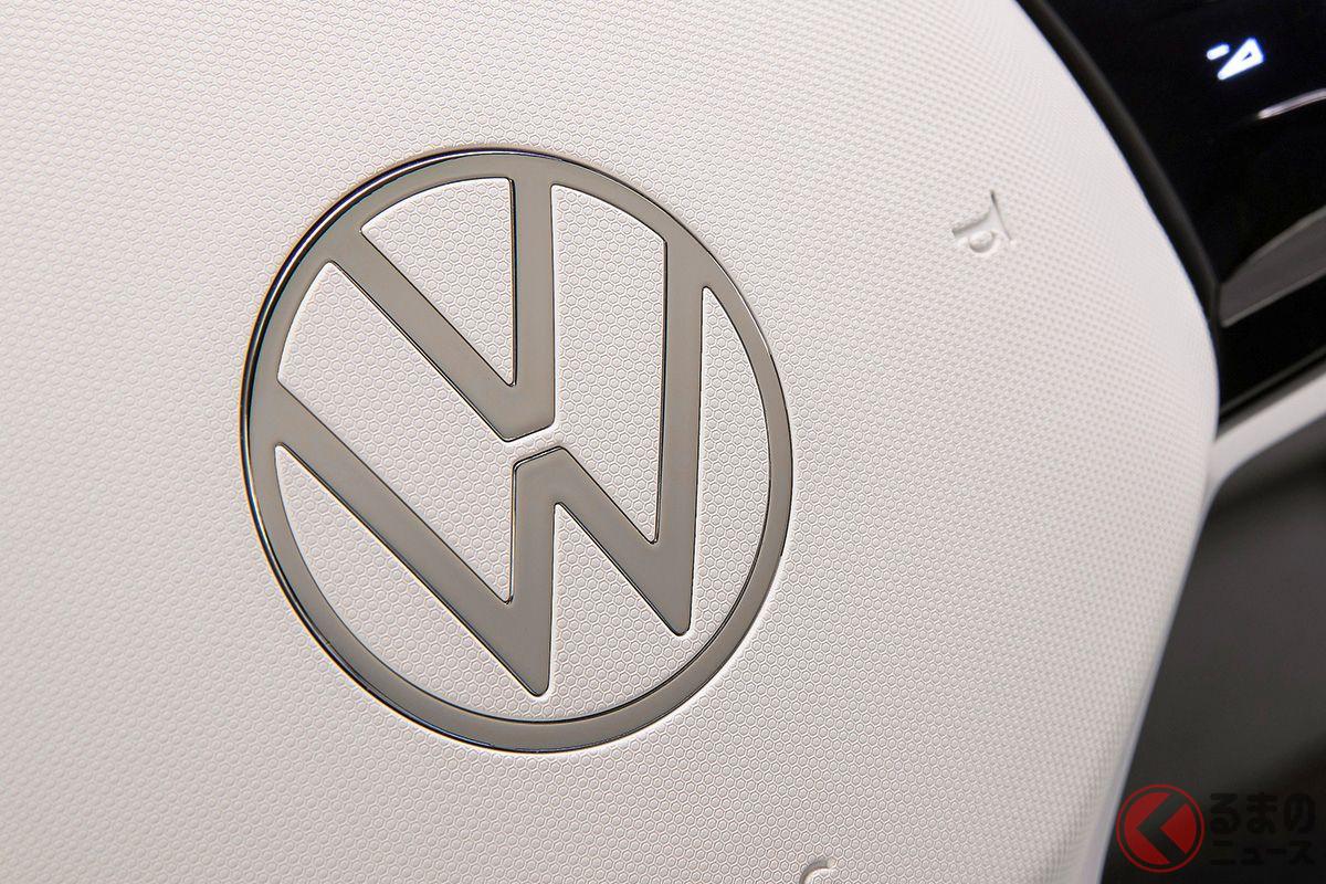 2019年9月に新しいデザインに変更されたVWロゴ。日本市場でも2020年6月から導入されている