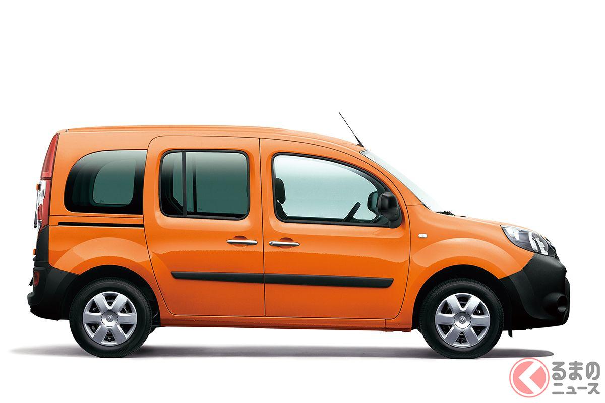 ルノー・カングーの限定車「カングー パナシェ」。ボディカラーはオランジュ コロンジュ(オレンジ)
