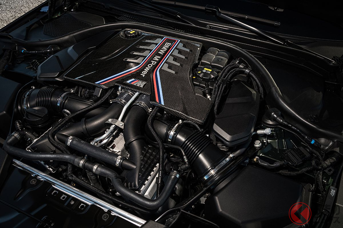 BMW「M5 CS」搭載の4.4リッターV型8気筒ツインターボ。635ps・750Nmを発生する