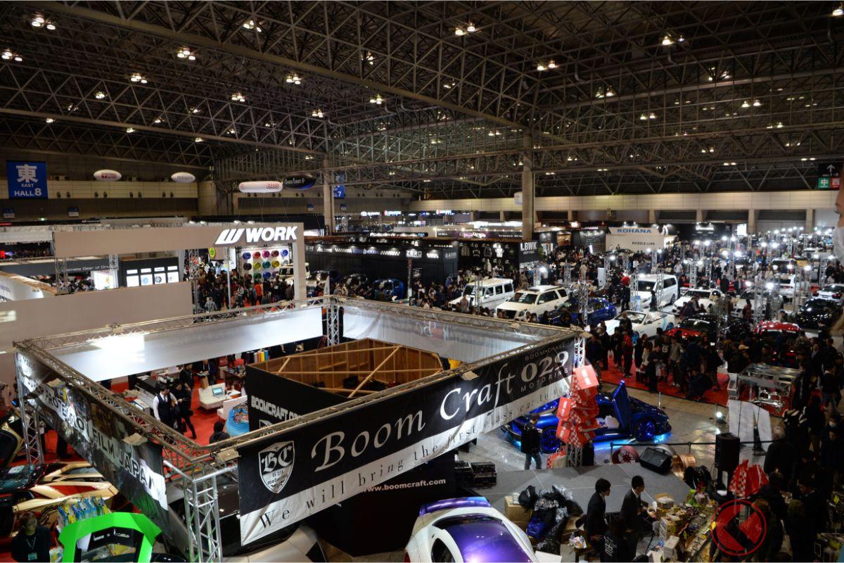 東京オートサロン2020の様子。幕張メッセで2020年1月10日から12日まで開催された