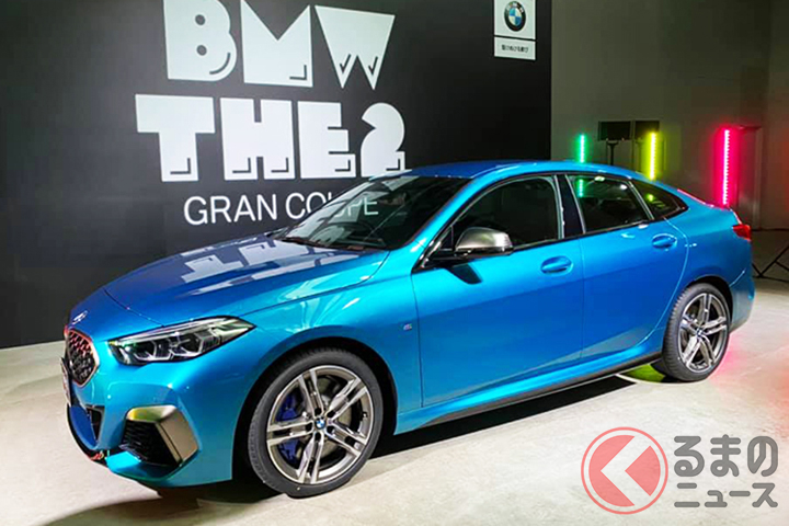 BMW2シリーズグランクーペ。後ろのロゴもパックマン仕様。