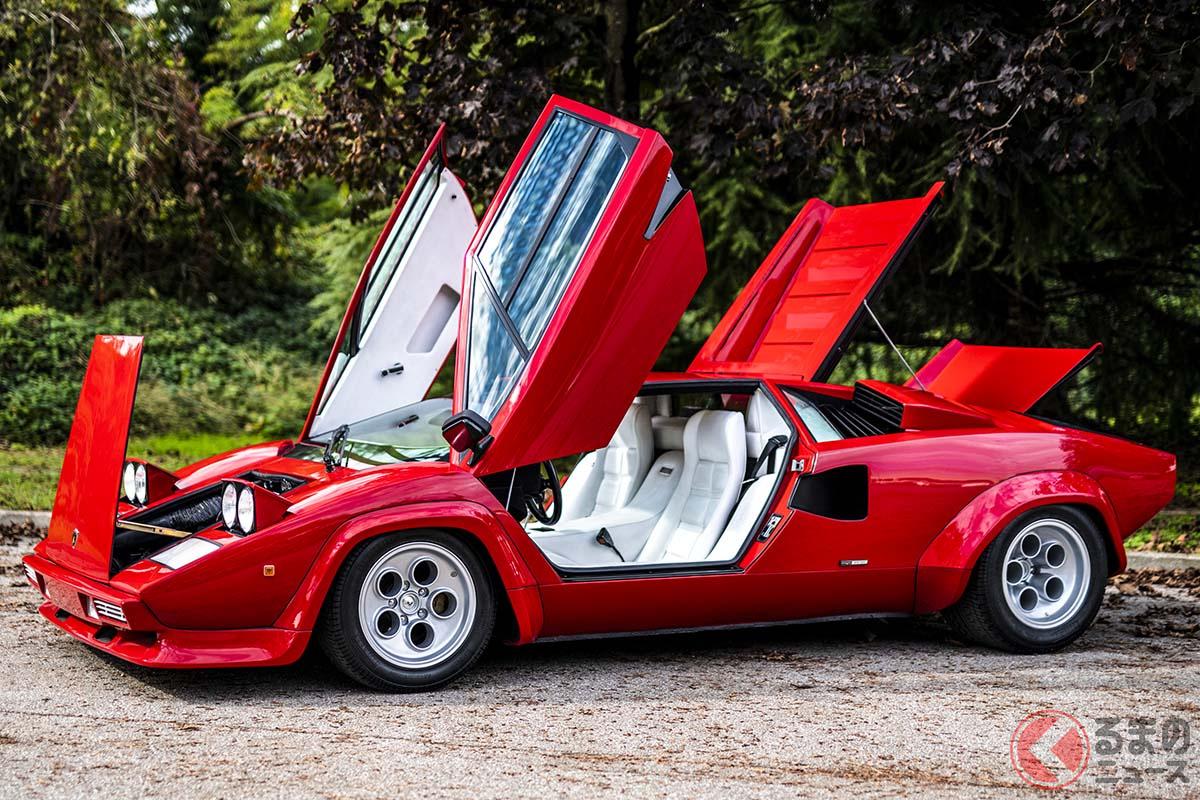 第1次スーパーカーブームでは、フェラーリ「512BB」と双璧をなす人気を誇ったランボルギーニ「カウンタック」C)2020 Courtesy of RM Sotheby's
