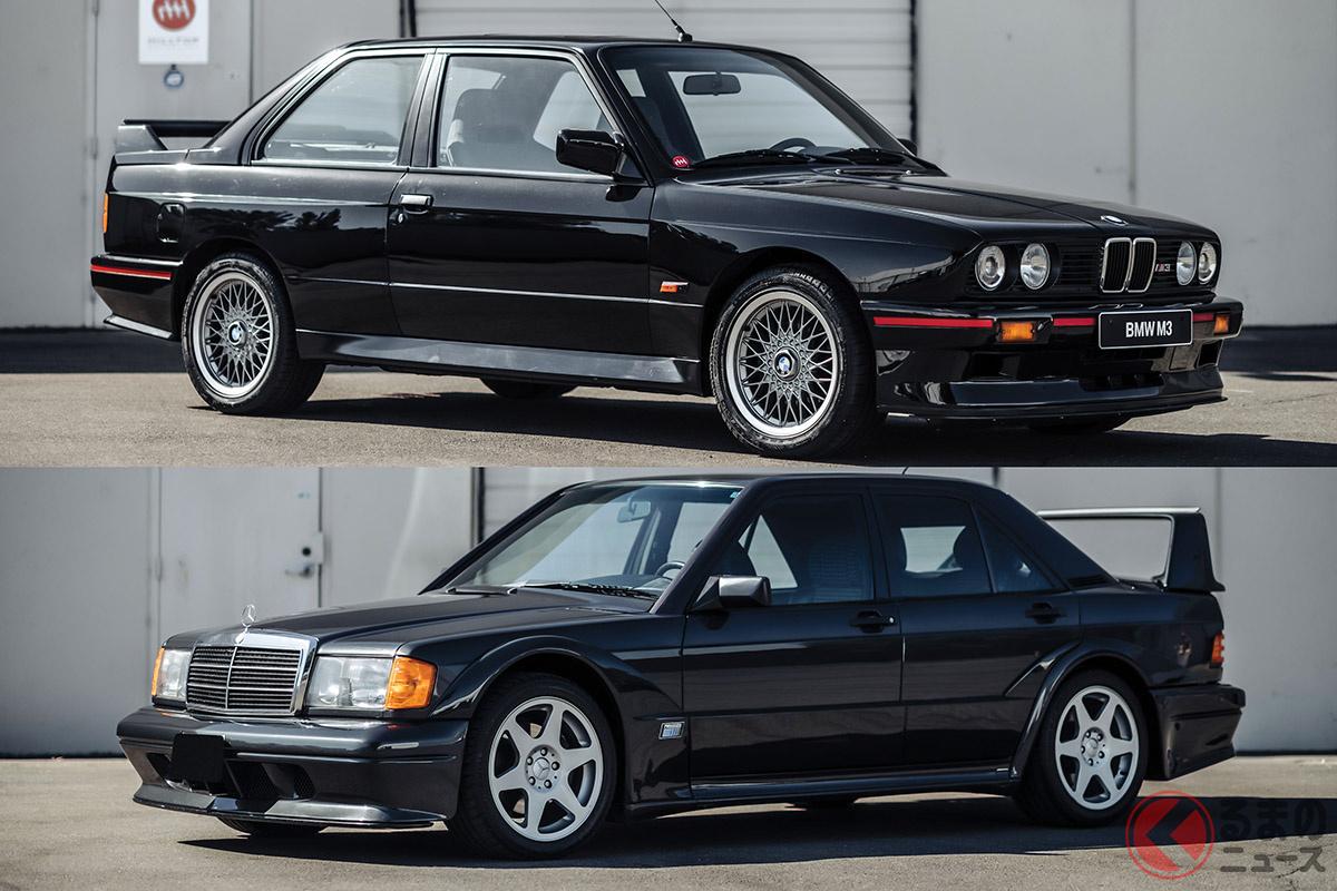「M3スポエボ」と「190Eエボ2」の2台は、どちらも新車当時から人気が高かった。最近は多くの程度のよい個体が日本から海外へ流出している(C)2020 RM Sotheby's